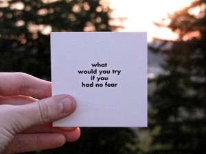 what would you try if you had no fear